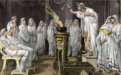Cultul vestalelor si intretinerea focului sacru