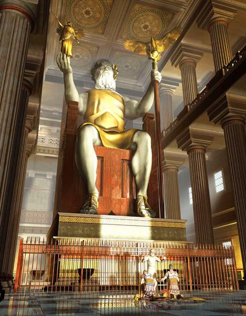 Zeus din Olimpia reconstituire